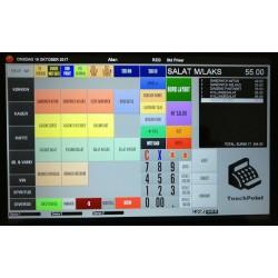 """10"""" kasseløsning m/bord- & Lagerstyring & Teamviewer til Restaurant, Cafe, Detail. Licensfri"""